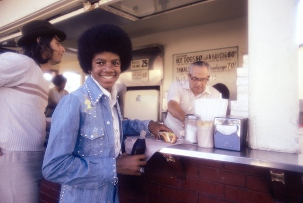 Michael at Pink's Hot Dog
