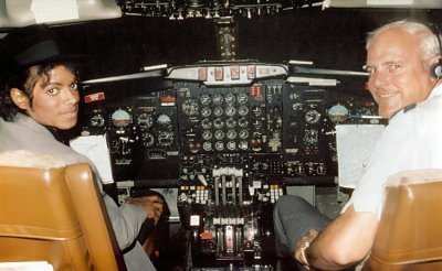 Michael behind the plane main board