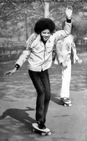 Michael skateboarding