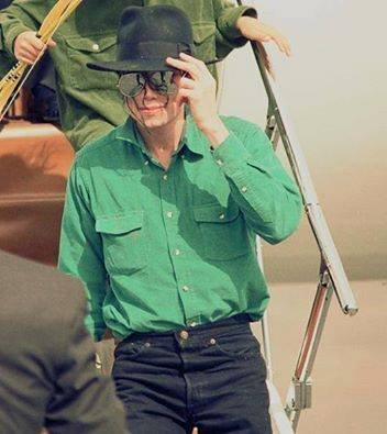Michael wearing a green shirt