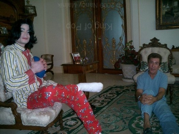 Michael with Al Malnick in pajamas