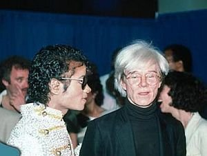 Michael with Andy Warhol