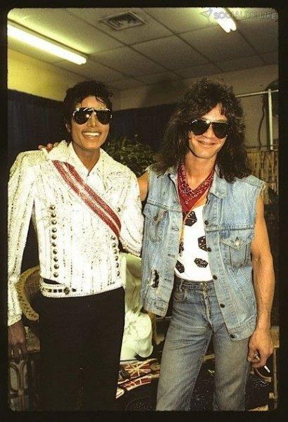Michael with Eddie Van Halen