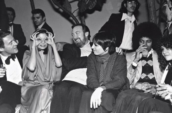 Michael with Liza Minelli and other famous people