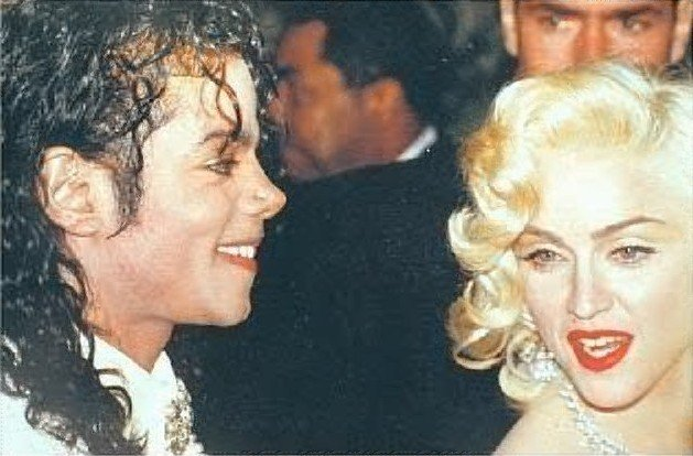 Michael with Madonna
