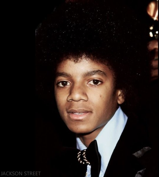 Young Michael at an event