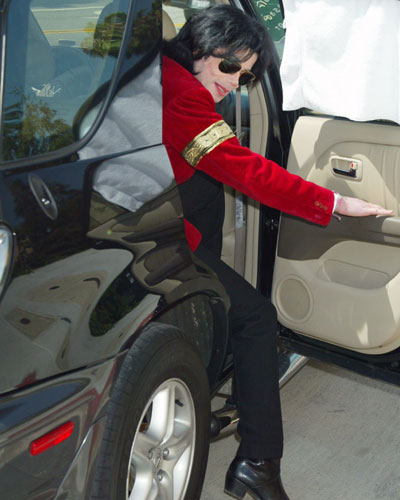 Michael getting a ride