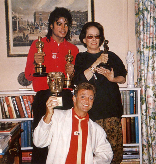 Michael with Oona Chaplin
