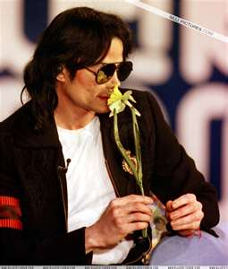 Michael with yellow flower