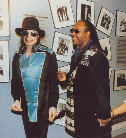 Michael with Stevie Wonder