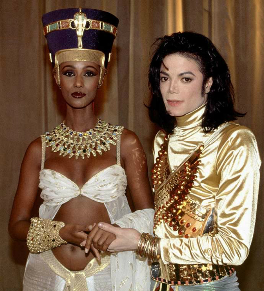 Michael with Iman