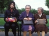 Michael with two old ladies