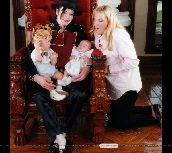 Michael, Prince, Paris and Debbie Rowe