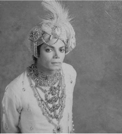 Michael in Indian outfit