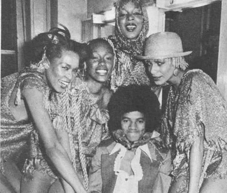 Michael with club girls