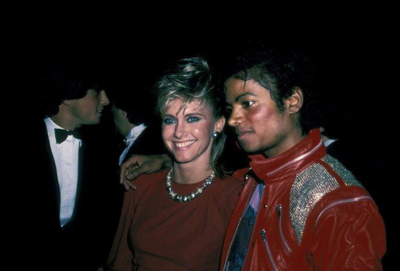 Olivia Newton-John and Michael
