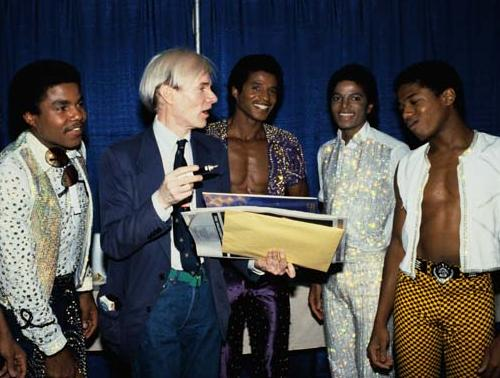The Jacksons and Andy Warhol