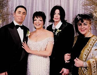 Michael, Elizabeth Taylor and Minnelli-Gest wedding