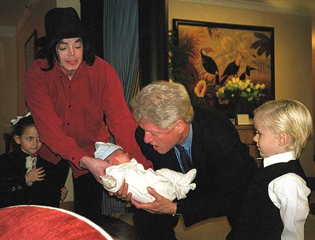 Michael with President Clinton