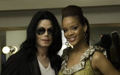 Michael with Rihanna