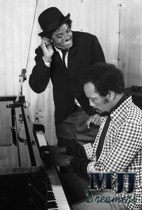 Michael as Chaplin with Quincy