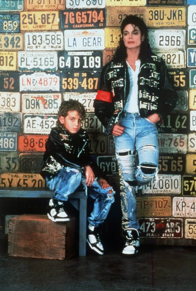 Michael with Wade Robson