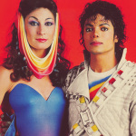 Angelica Huston and Captain EO