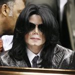 Michael at James Brown's funeral