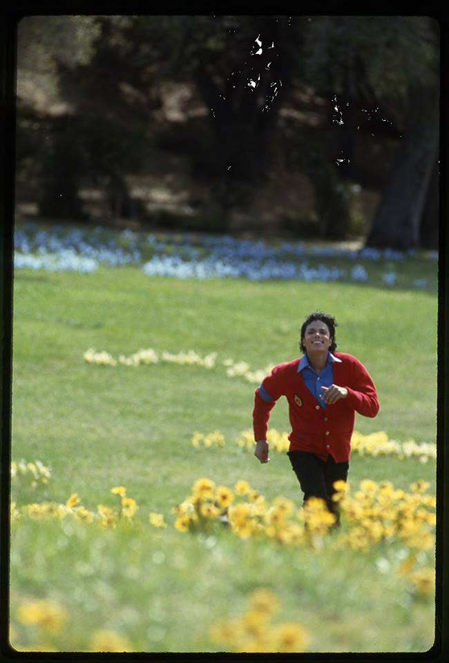 Michael dashing through the fields
