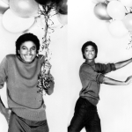 Michael goofing off with balloons