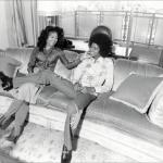 Michael with LaToya sitting on a couch