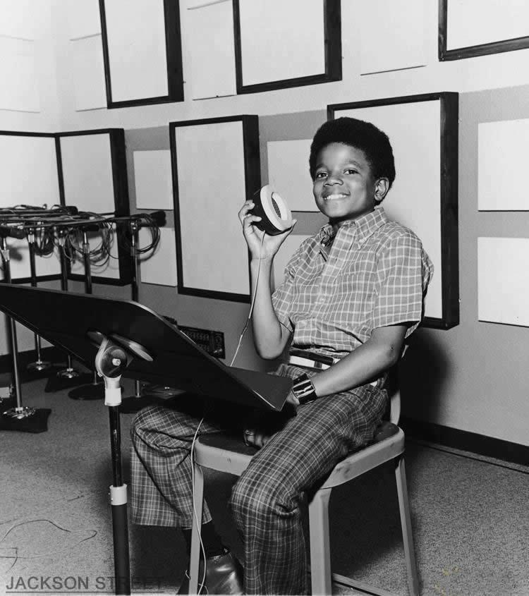 Young Michael in studio